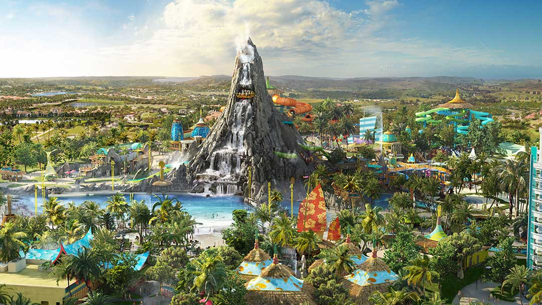 Vattenparker i Orlando. Volcano Bay, Universal