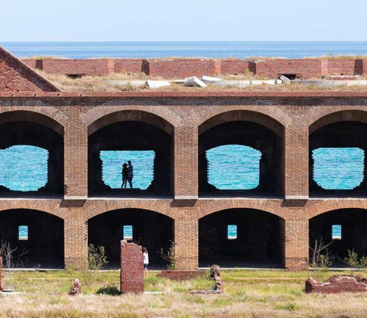 Dry Tortugas nationalpark, Dry Tortugas und Fort Jefferson, Dry Tortugas with Fort Jefferson