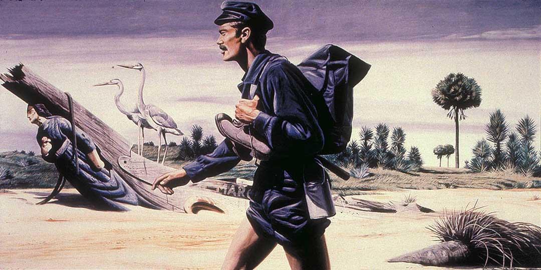 Barefoot mailman, Barfüssiger Postbote