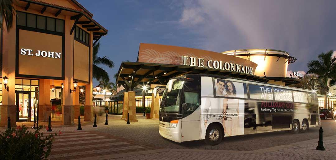 Pendelbuss från Miami till Sawgrass Mills, Fort Lauderdale. Guide till 17 populära outletcenter i Florida.