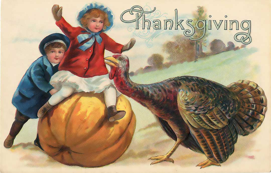 Resultado de imagem para old thanksgiving postcards