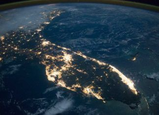 Florida från rymden, platser florida, Florida aus dem All, Florida from space