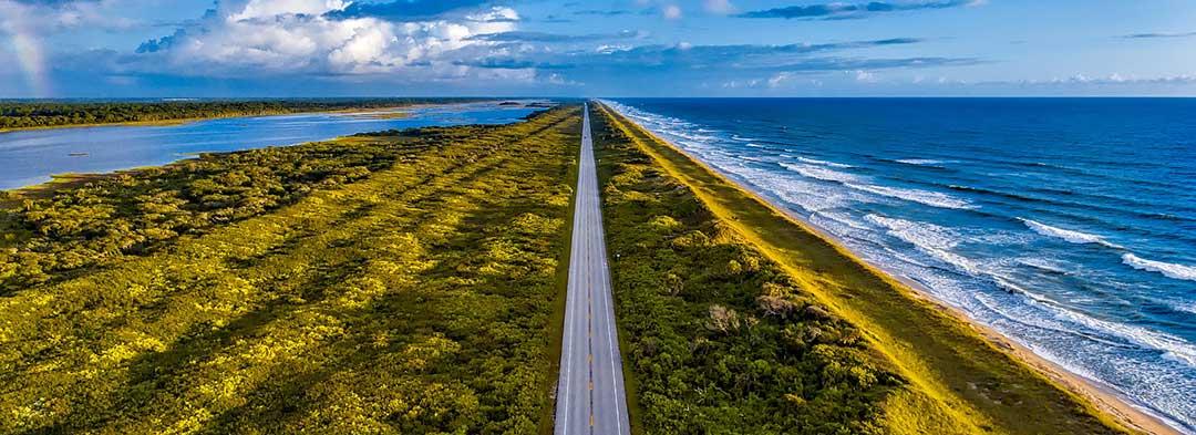 Florida före resan. Östkusten i Florida, Florida stränder östkusten