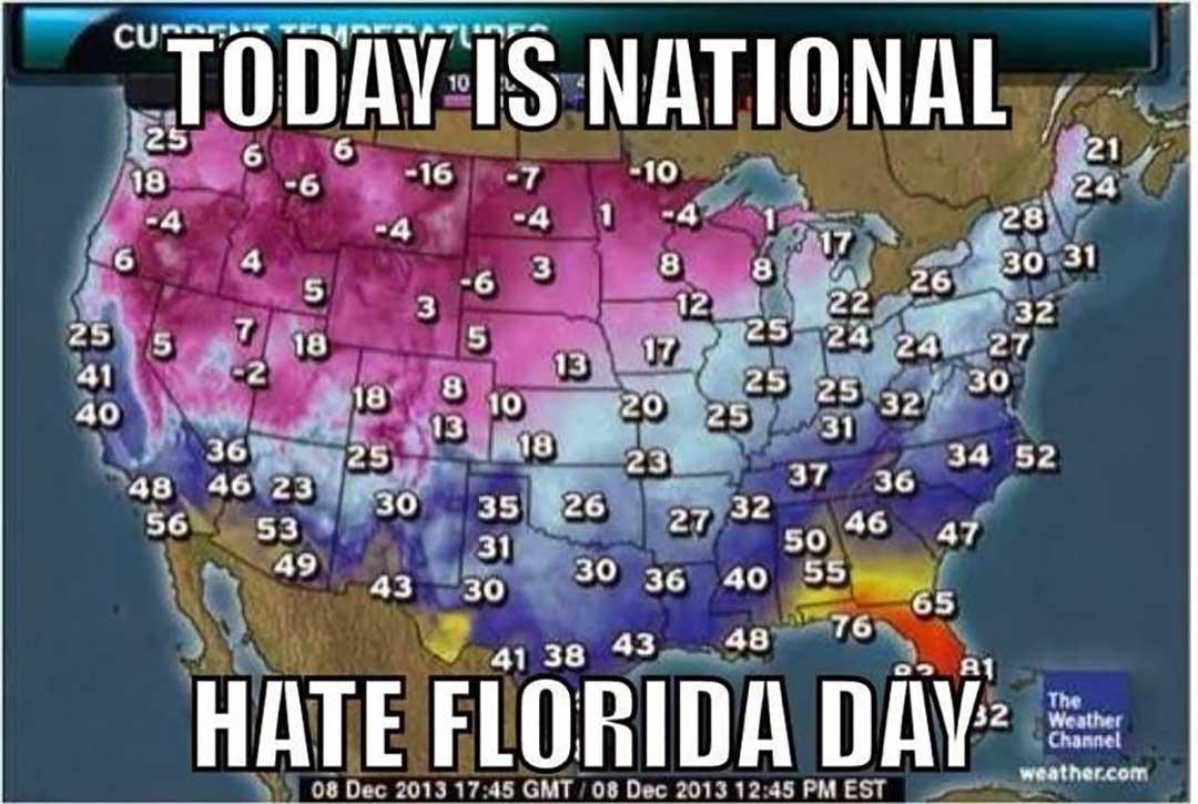 väderstatistik i Florida