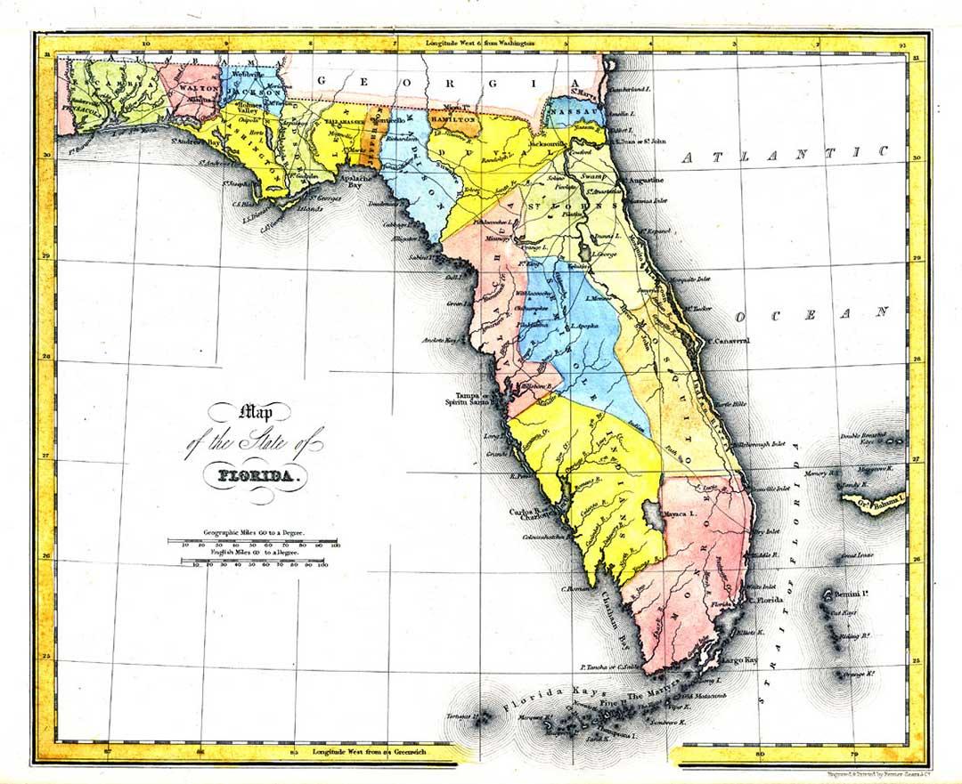 Kartor om Florida, maps of florida, Mapas de Florida