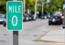 Mile markers, Florida Keys