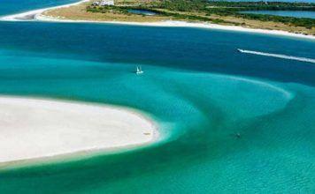 Floridas stränder västkusten