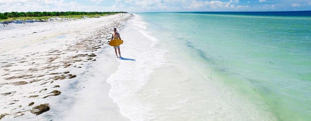 Floridas stränder västkusten, floridas bästa stränder 2020