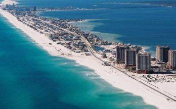 Florida stränder i norr