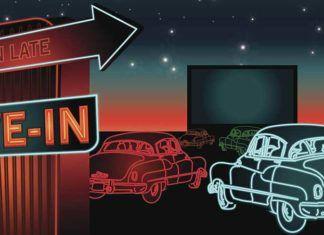 Drive-in movies, florida retro