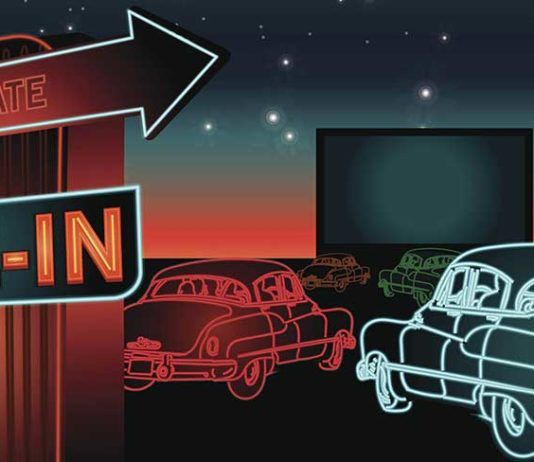 Drive-in movies, florida retro