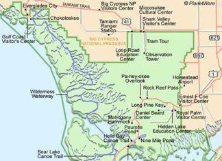 Shark Valley, Kartor om Florida
