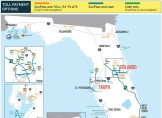 betalvägar i Florida, No cash on Florida toll roads