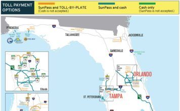 betalvägar i Florida, No cash on Florida toll roads, carreteras de peaje en Florida, Mautstraßen ohne Bargeld